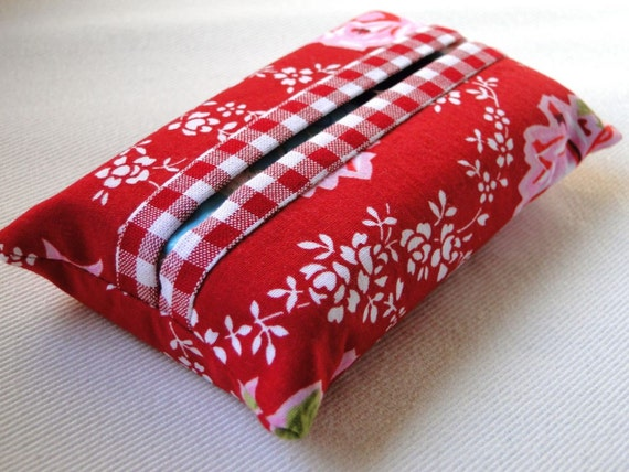 Red Pocket Tissue Cover Cozy