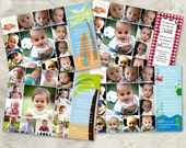 Summer Selections - choose a photo collage invite to match your baby's first birthday theme (No. 21014)