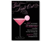 Mixed drinks party invitation... perfect for birthdays, bachelorette parties anniversaries and more.