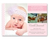 Preemie Boy or Girl Homecoming Birth Announcement with sweet polka dots - a printable photo card for your little miracle.