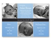 Preemie Birth Announcement, Welcome Home - a printable photo card for your little miracle. (No. 12012)