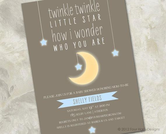baby shower invitation twinkle twinkle little star a sweet an
