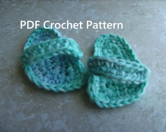 Instant Download PDF Crochet Pattern - Beach Summer Fun Flip Flops Sandals Shoes Slippers for 18 Inch American Girl Doll
