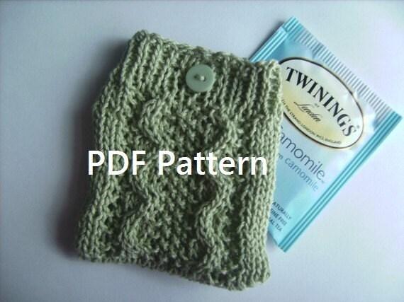 PDF Knitting Pattern Sencha Cable Knit Travel Tea by KnitsForKids