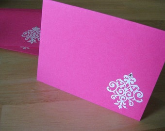 Bright Pink Cards - Set of 4