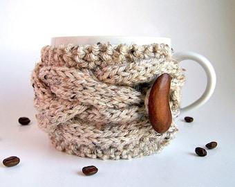 Cup Cozy, Coffee Mug Cozy, Coffee Cup Sleeve, Coffee Cup Cozy, Knit Coffee Cozy, Coffee Sleeve, Tea Cozy, Chunky Knit