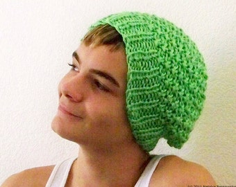 Mens Slouchy Beanie Men, Greenery Slouchy Beanie Hat, Knit Slouch Hat, Mens Slouch Beanie, Slouchy Hat, Mens Knit Hat, Mens Knit Beanie