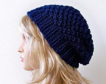 Womens Slouchy Beanie Hat, Mens Slouch Beanie, Knit Slouchy Hat, Knit Slouchy Beanie, Mens Slouchy Beanie, Chunky Knit Hat, Mens Slouchy Hat