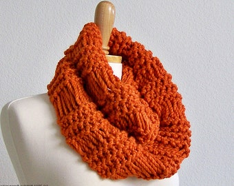 Knit Scarf, Infinity Scarf, Chunky Scarf, Mens Scarf, Womens Scarves, Knit Infinity Scarf, Chunky Knit Scarf, Winter Scarf, Knit Cowl Scarf