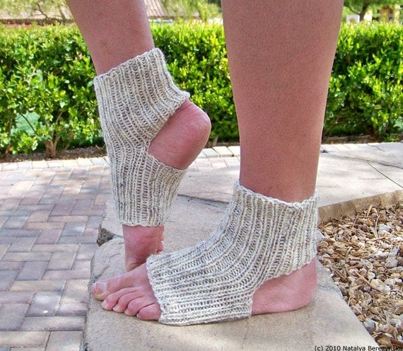 Yoga Socks Knitted Pilates Ballet Leg Warmers Handmade