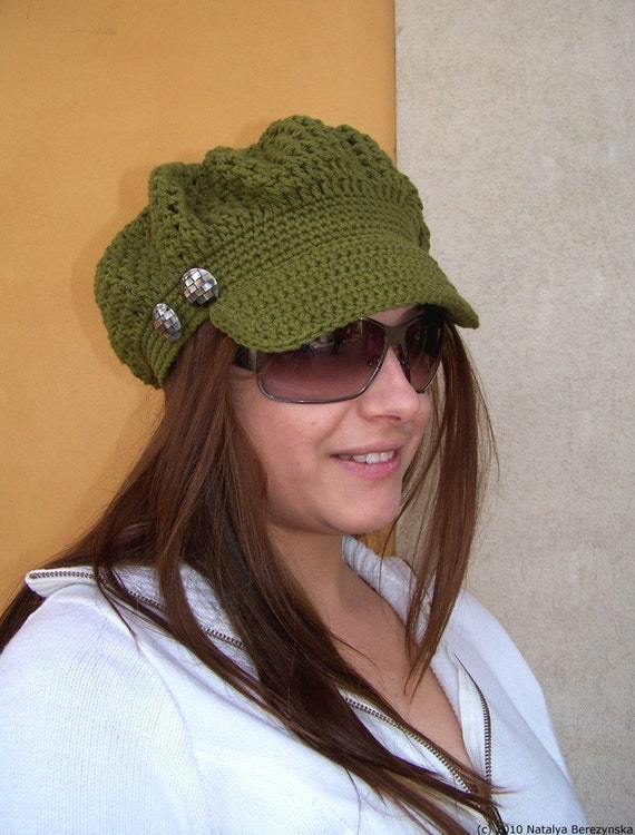 Crochet Newsboy Hat Pattern Crochet Pattern Newsboy Cap