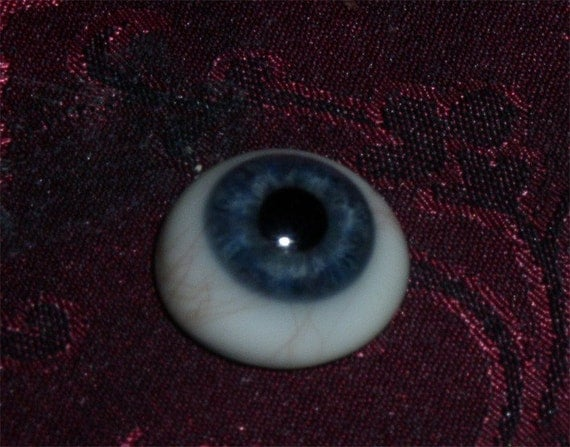 Deep Blue Iris Real Human Eye Prosthesis by ZitaJohann on Etsy