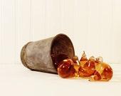 Vintage Amber Prism Pear Shaped
