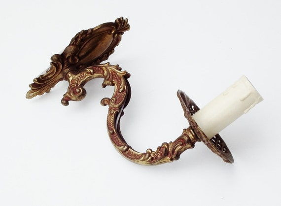 Vintage French Bronze Sconce (Pair Available)
