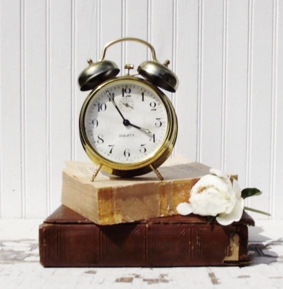 Vintage Metal Alarm Clock with Double Bells