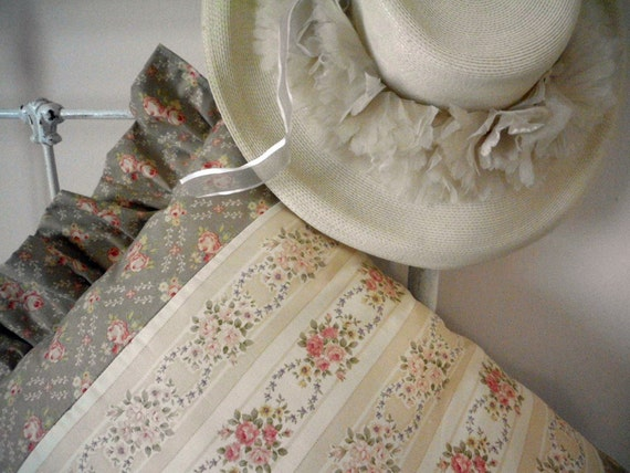 Shabby Chic Brocante style Pillow Muted Tones So Cottage
