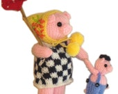 Mummy Pig with her Child Pocket Friend PDF Email KNIT PATTERN