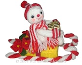Snow Child on Christmas SLEIGH Pdf Email Knit PATTERN