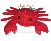 The RED CRAB Pincushion Pdf Email Knit PATTERN