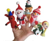 Christmas Finger PUPPETS Pdf Email Knit PATTERN
