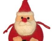 PAPA NOEL bolsita de Navidad pdf Email PATRON para Tejer con Lana