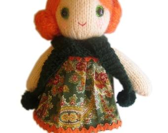 Lovely LOLA girly Doll  KNIT PATTERN pdf Email