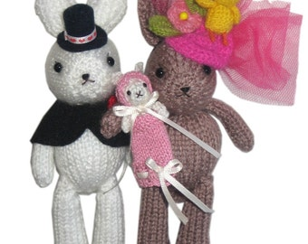CHRISTENING Party Bunnies PDF Email Knit PATTERN