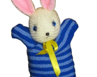Sailor BUNNY Puppet PDF Email Knit PATTERN