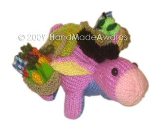 Adorable PEPE The lilac DONKEY Knit PATTERN pdf Email