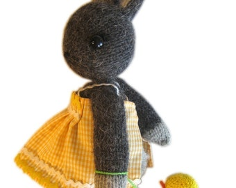 Sweetest Bunny with her duck toy pocket friend knit pattern pdf Email