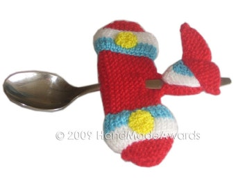 AIRPLANE SPOON for your Baby Pdf Email Knit PATTERN