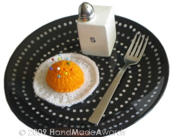 Fried Egg PINCUSHION Pdf Email Knit PATTERN
