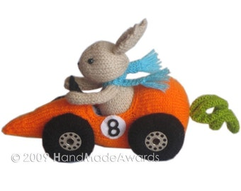 Fittipaldi Car Carrot PDF Email Knit Pattern
