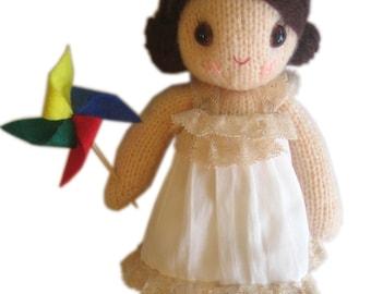 Christine girly Doll PDF Email Knit PATTERN
