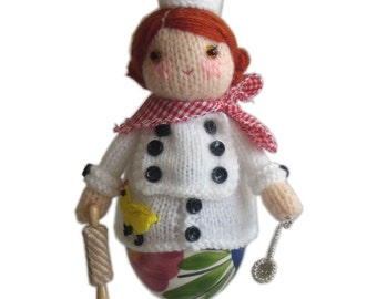 The Little CHEF Egg Cosy PDF Email Knit PATTERN