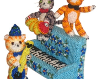 The Cottton Club Cats PDF Email KNIT Pattern