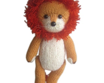 Rupert the LION PDF Email Knit PATTERN