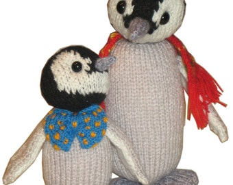 Two PENGUINS PDF Email Knit PATTERN