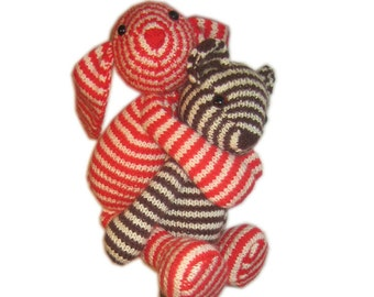 Bonnie The striped BUNNY PDF Email Knit PATTERN