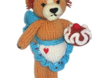Little LIONESS with her CAKE Pdf email knit PATTERN