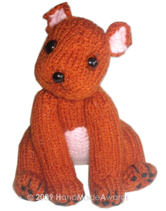 Toffee PUPPY Dog Pdf Email Knit PATTERN