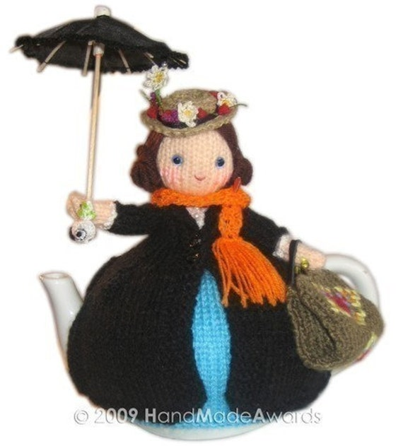 Lovely MARY POPPINS Tea Cosy Pdf Email Crochet PATTERN