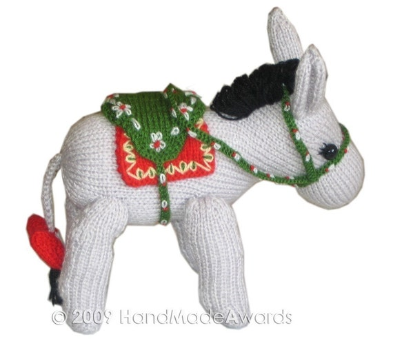 Lovely DONKEY Pdf EMAIL Knit PATTERN