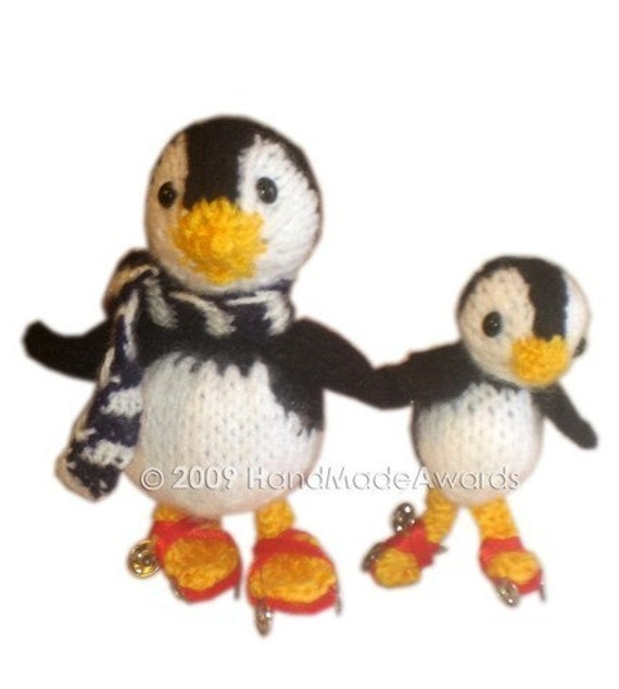 Adorable SKATER PENGUINS Daddy Penguin with his Child Skating Crochet PATTERN pdf Email