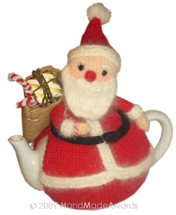 SANTA CLAUS Tea Cosy pdf Email Knit PATTERN