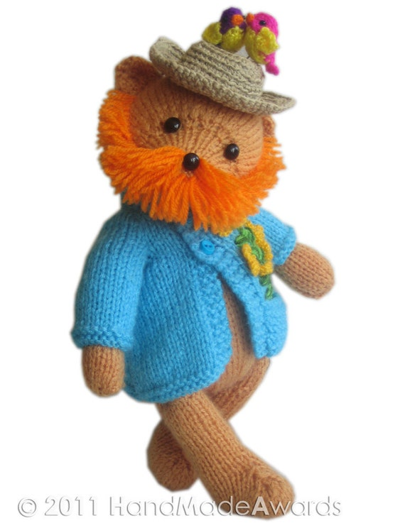 Vincent VAN GOGH Teddy Bear Pdf Email Knit PATTERN