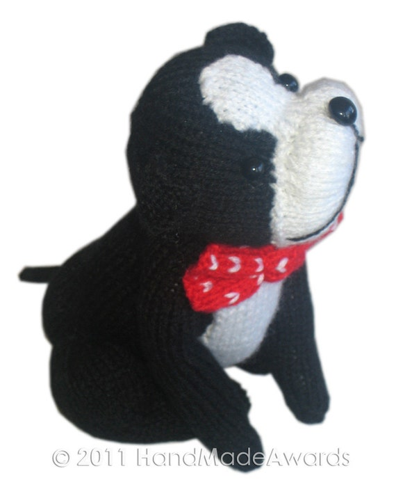 Bob Boston Puppy DOG Pdf Email Knit Pattern