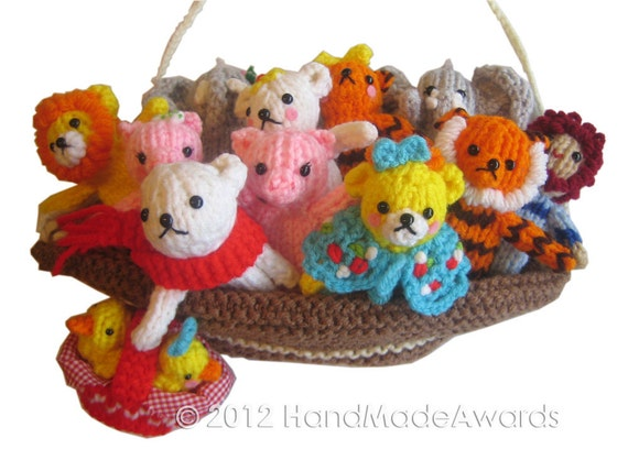NOAHS ARK Finger Puppets Pdf Email Knit PATTERN