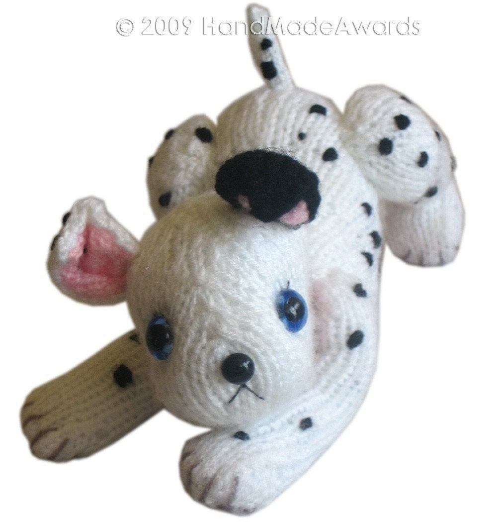 DALMATIAN Puppy Dog Pdf Email Knit PATTERN by HandMadeAwards