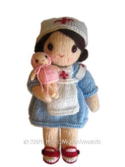 Knitting Pattern For Nurse Doll : ENFERMERA Maureen con Bebe PDF Email Patron para TEJER con